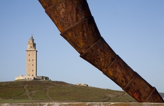 Tower of Hercules in Corunna, ancient Roman lighthouse