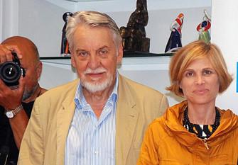 O presidente do Comité, Paolo Caucci von Saucken, e a directora de Turismo de Galicia, Nava Castro