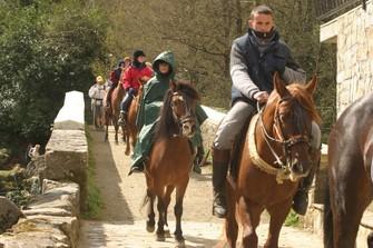 Pilgrims on horseback