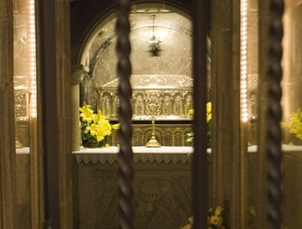Apostolic crypt where the remains of the Apostle Santiago repose